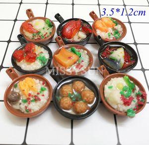 Image 4 - Miniaturas for1/6 bonecas para cozinha, miniaturas de macarrão, arroz chinês, sobremesa, escala 1:6, cozinha brinquedos, brinquedos