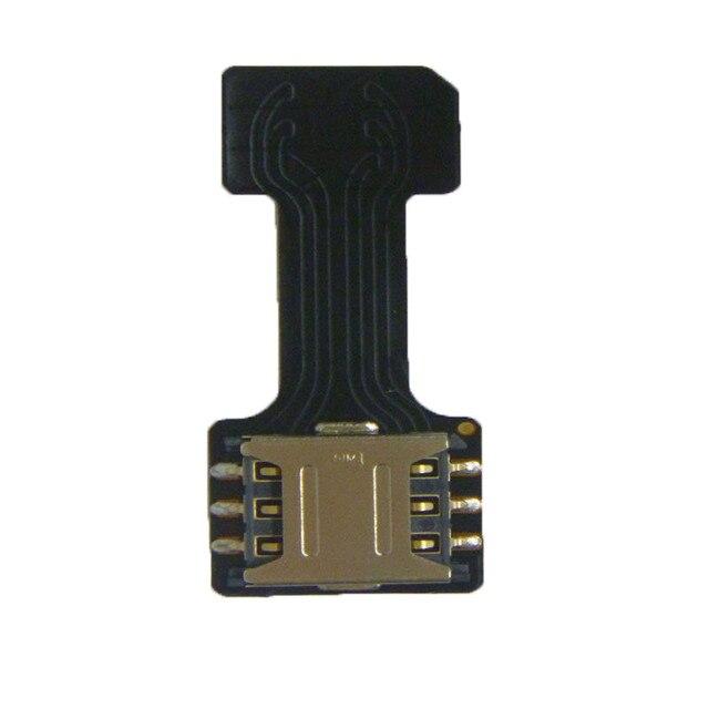 HAOHAN 1 Pcs Preto Dual SIM Adaptador SIM para o Nano SIM Android DOIS 2 NANO-SD Conversor De Cartão De Memória Para XIAOMI NOTA REDMI 3 4 3 s PRO