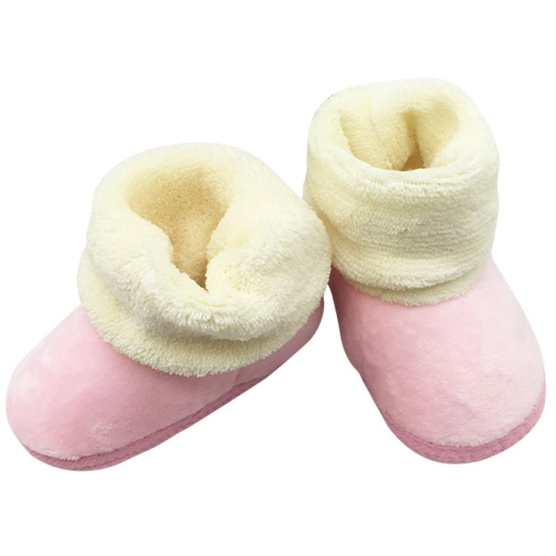 Autumn Winter Kids Baby Boys Girls Soft Plush Cute Booties Infant Anti Slip Snow Boots Shoes