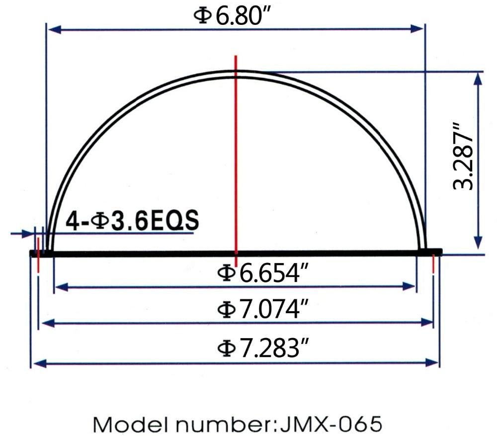 JMX 6,5-ZOLL-Acryl-CCTV-Ersatz für Innen- und Außenbereiche - Schutz und Sicherheit - Foto 3