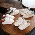 Дети PU shoes kids shoes для девочки белые кроссовки 2017 весна осень Дети shoes мода тапки одной baby shoes