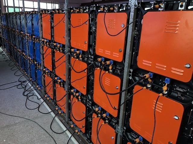 10set P8 512x512mm armoire en aluminium moulé sous pression
