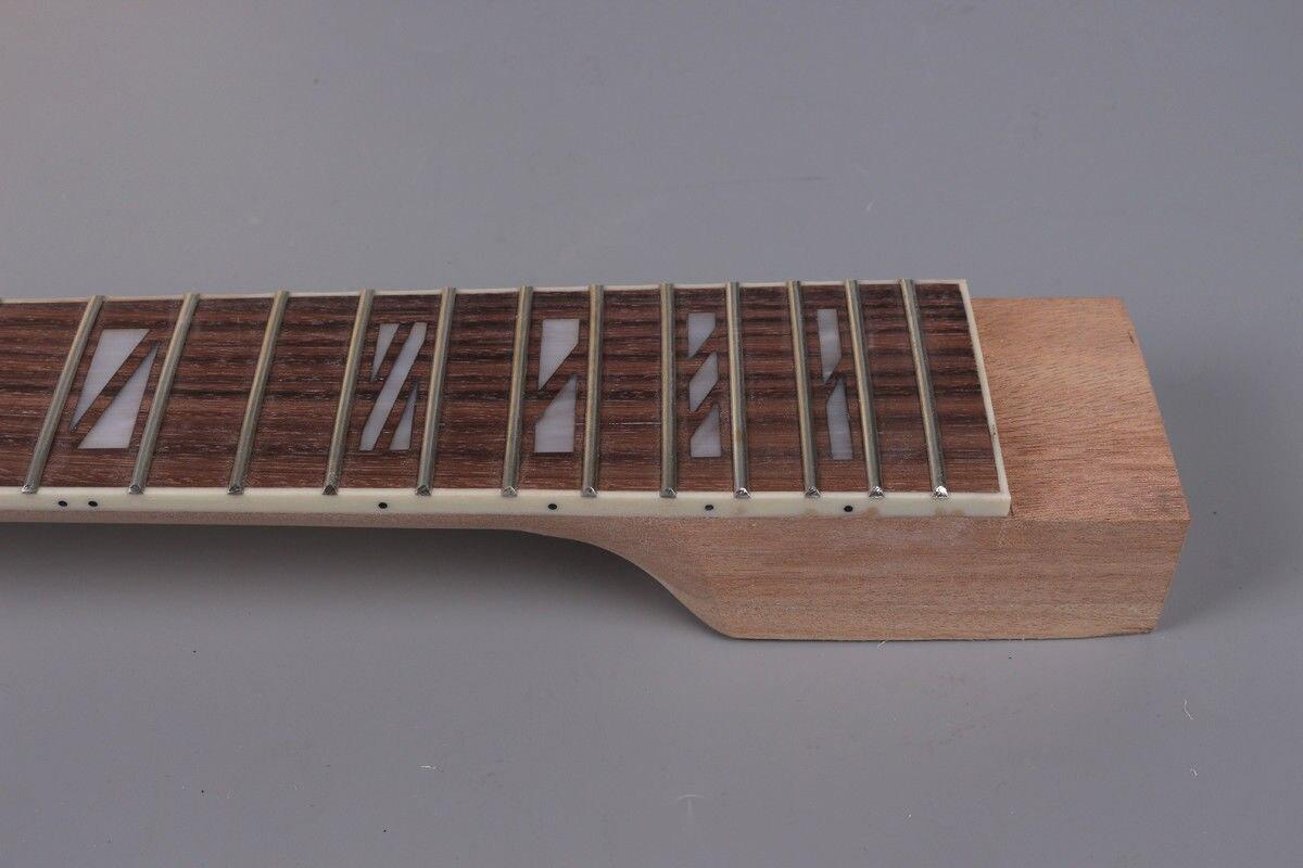 Yinfente guitare électrique corps guitare électrique cou acajou érable palissandre Fretboard bois massif guitare pièces - 4