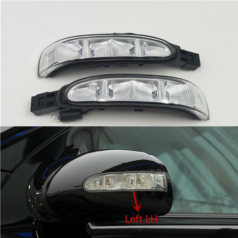 Cafoucs Door Mirror Turn Signal Led Light Indicator Lamp for Mercedes W164 X164 ML 2006-2009 W251 R-Class 2005-2009 2pcs lot error free direct fit led number license plate lights lamp for benz w251 r class w164 ml class x164 gl class