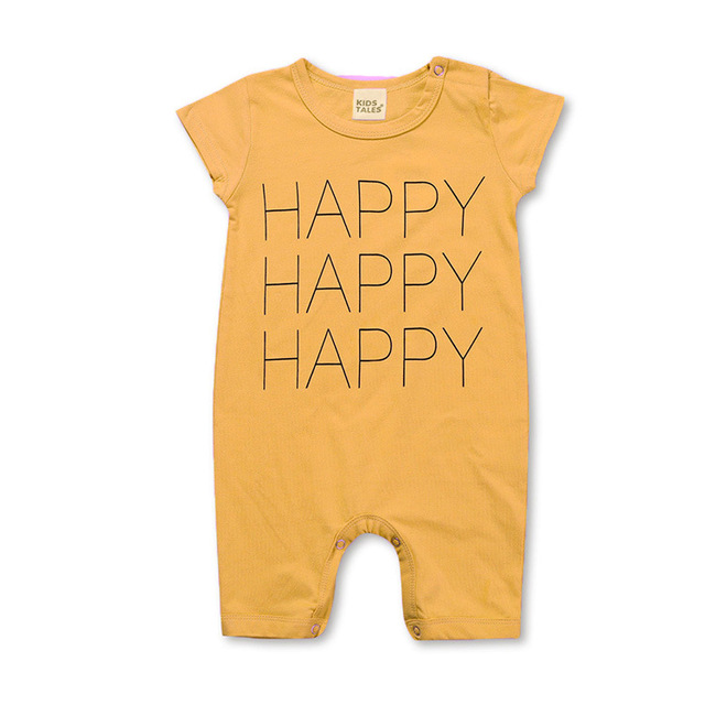 Unisex Baby Romper 2019 Summer Short Sleeve New Born Baby Girl Clothes Cartoon Print Baby Boy Romper Toddler Rompers 0-24M