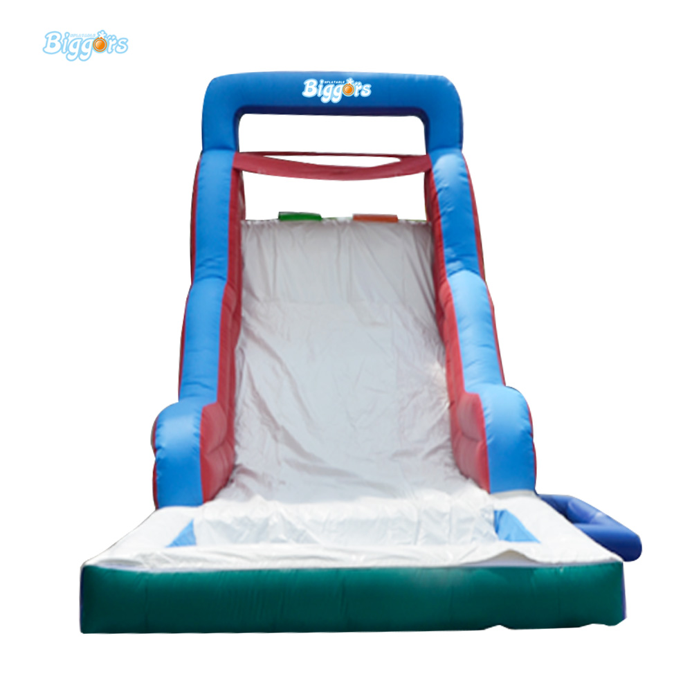 Cheap Price 0.55mm PVC Tarpauline Inflatable Slide With Pool For Sale inflatable biggors combo slide and pool outdoor inflatable pool slide for kids playing
