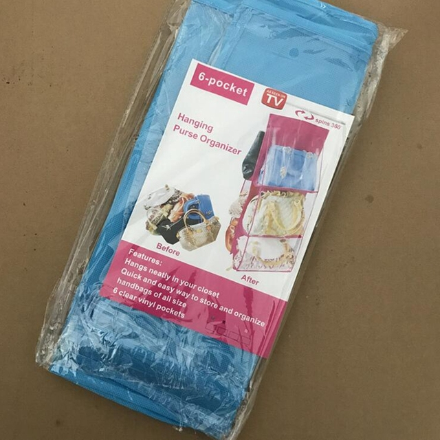 Transparent Foldable Hanging Handbag Storage