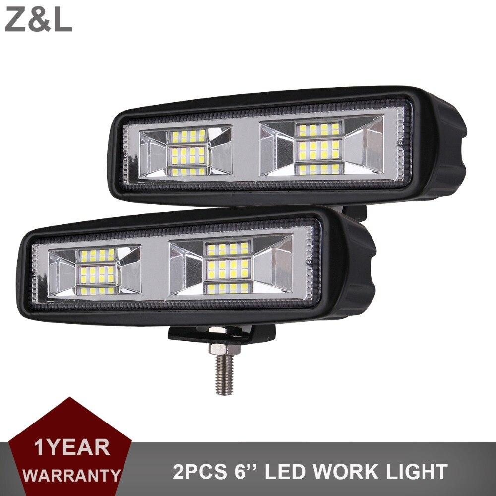 2 piezas LED luz de trabajo Bar Offroad SUV Tractor barco 4WD 4x4 camión ATV Auto Motor faro inundación 12 V 24 V Wagon RZR lámpara de conducción