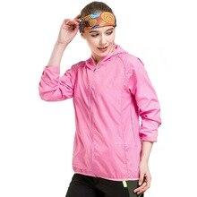 Sun Protective Raindrop Lines Women Jacket Coat 2017 Spring Summer Ultra Light Windbreaker Girls Womens Thin