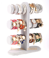 3 Layer Gray Velvet Bracelet Holder Bangle Stand Watch Display Stand Holder Rack Tabletop Showstand Bangle