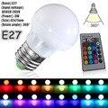 3 W RGB LED Mágica Luz de La Lámpara Del Bulbo + IR 24Key Colores Cambian Nueva Caliente Casa Inteligente de Control remoto de Iluminación Caliente venta