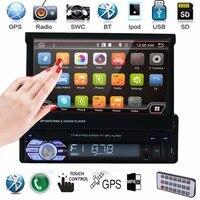 Car Radio Autoradio GPS Bluetooth Car Stereo 1 Din 7 HD Touch Screen Handsfree DVD FM