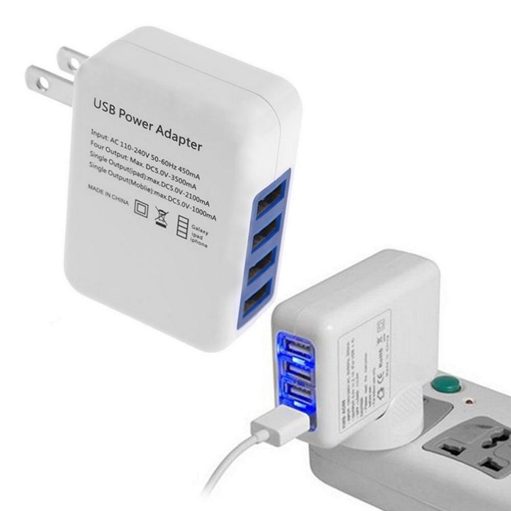 2 1a 4 Ports Usb Portable Home Travel Wall Charger Us Plug