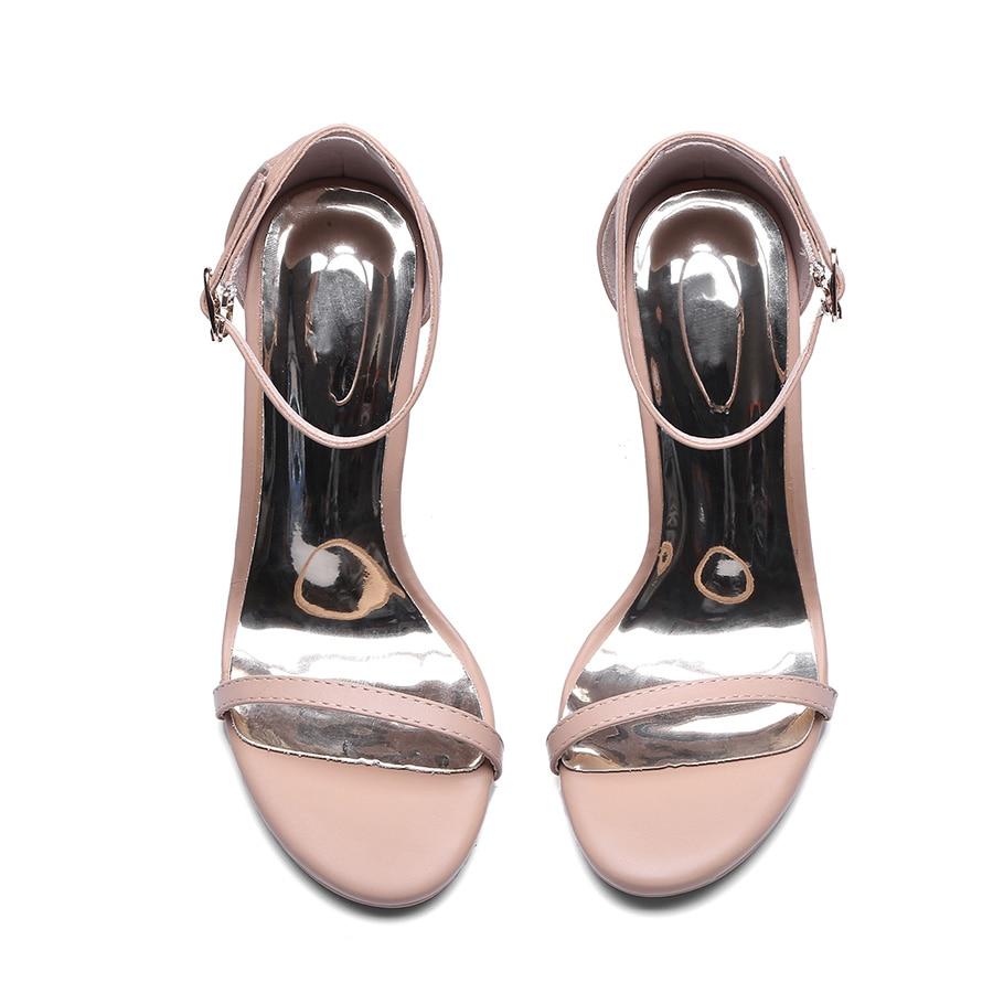 Bout Mode Hauts Parti De À Chaussures D'été Dames Night Talons Mince apricot Cuir Femmes Boucle Black Flhboya Sexy Haute Club Véritable Ouvert Sandales En UGzMpLqSV