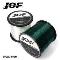 Hilo de pesca de Nylon monofilamento JOF 1000M 500M equipo de pesca de nailon 100% superpotencia
