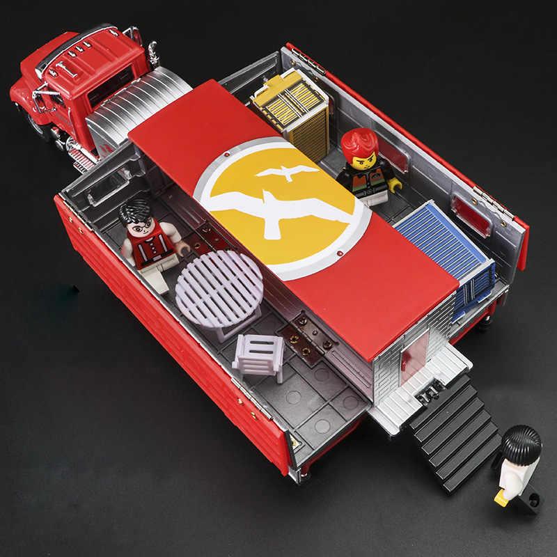 Alloy Diecast Rumah Motor Truk 1:50 Motor Trailer Limous Lipat 4 Teleskop Berdiri Kendaraan Model Koleksi Hadiah untuk Anak-anak Mainan