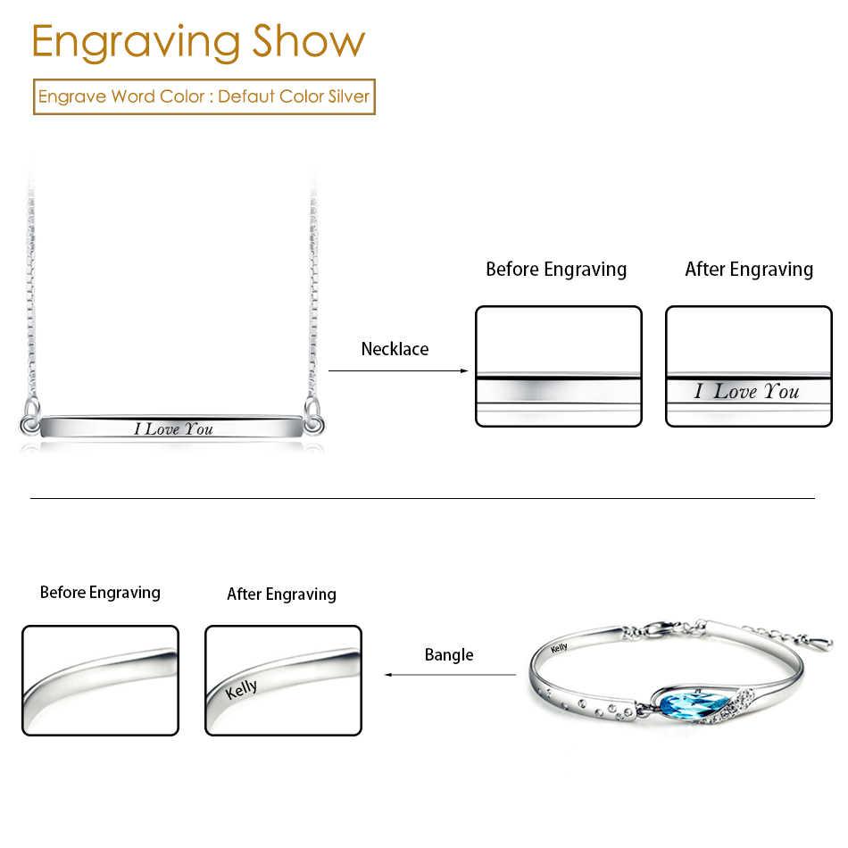 ORSA GIOIELLI Personalizzati Laser Incidere Parola Servizio Su Misura Necklace & Ring & Bracelet & Earring Lettere di Incisione Su Misura