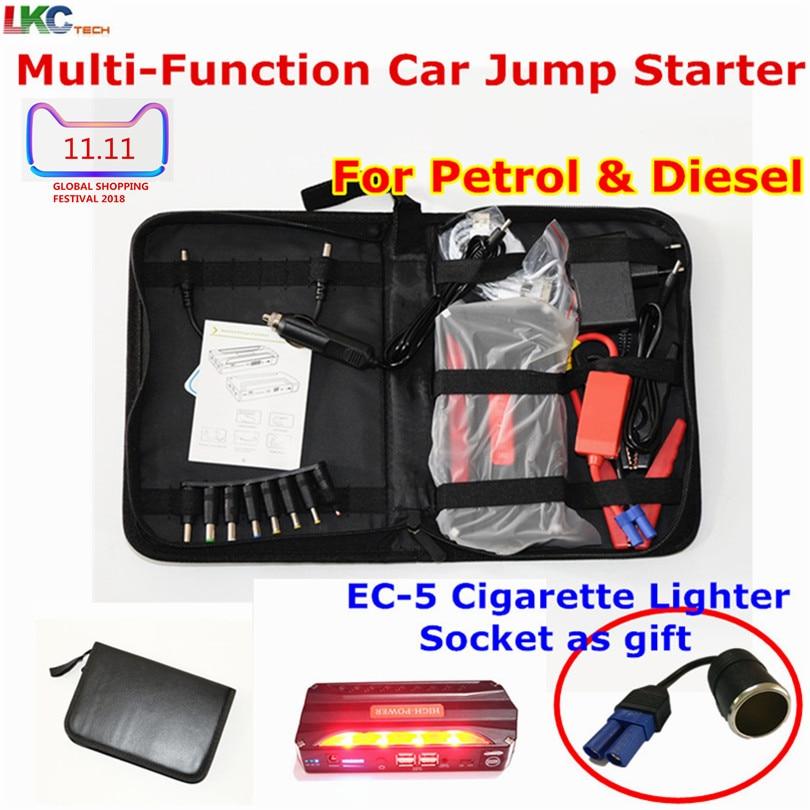 Универсальный автомобильный прыжок стартер аварийный портативный power Bank 4USB power Vehicle Start Jumper авто аккумулятор бустер стартер