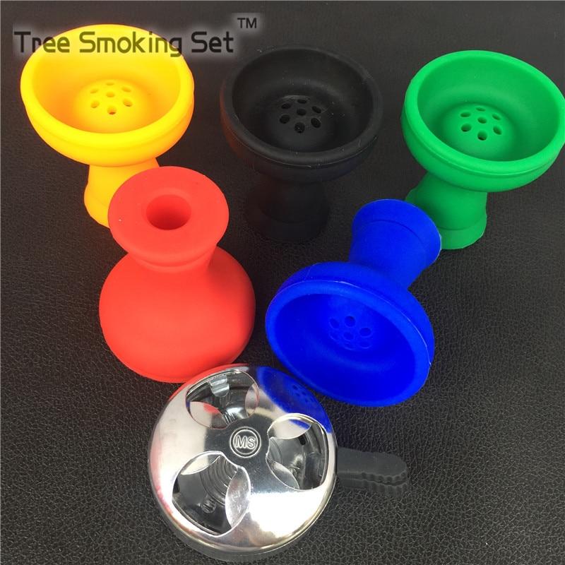 1pc <font><b>Smoking</b></font> Metal Shisha Hookah Bowl 1pc silicone bowl Charcoal Holder Head Charcoal Stove Burner Gas Lighter Shisha Accessories