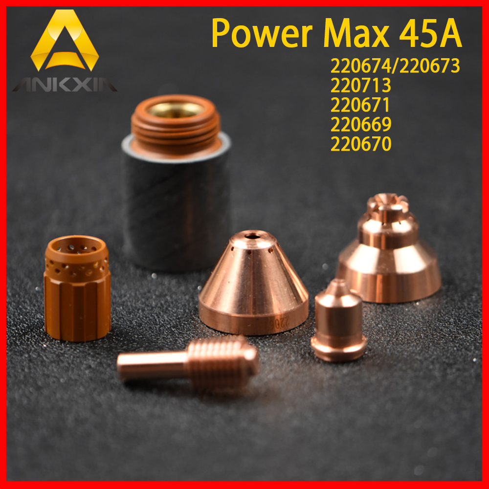 PowerMax 45A Plasma Cutting Machine Consumables Parts Shield/Retaining Cap/Nozzle/Swirl Ring/Electrode 220569/220674/220673 игрушка motormax audi q5 73385