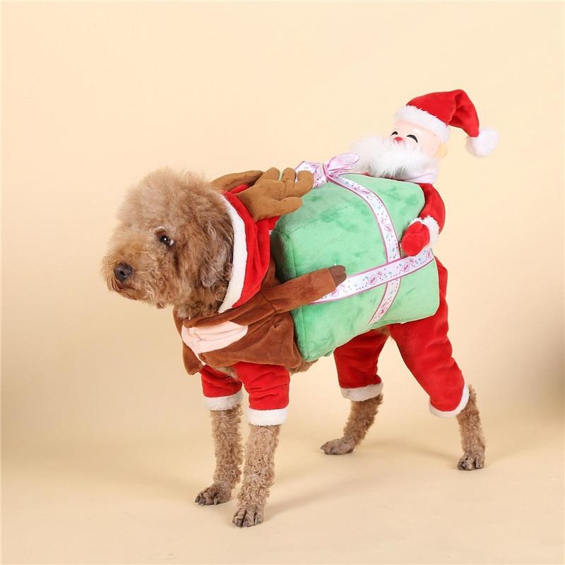 Christmas pet Horse Dog Costume Novelty Funny Halloween Party Pet Dog Costume Large Dog Clothes Cowboy Dog Clothing S-XL CDC052
