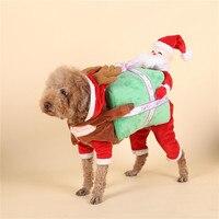 Christmas pet Horse Dog Costume Novelty Funny Halloween Party Pet Dog Costume Large Dog Clothes Cowboy Dog Clothing S XL CDC052