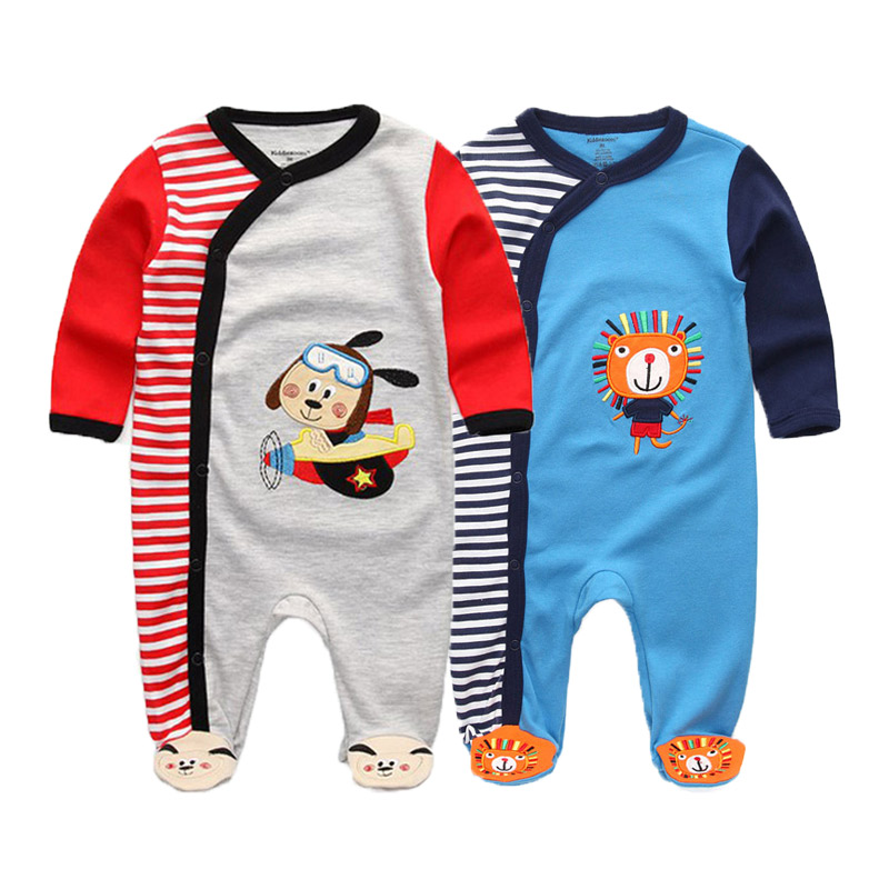 Image 3 - 2 PCS/lot newborn long sleeve winter baby rompers jumpsuit 2019 baby rompertjes cotton ropa bebe baby boy girl clothesRompers   -