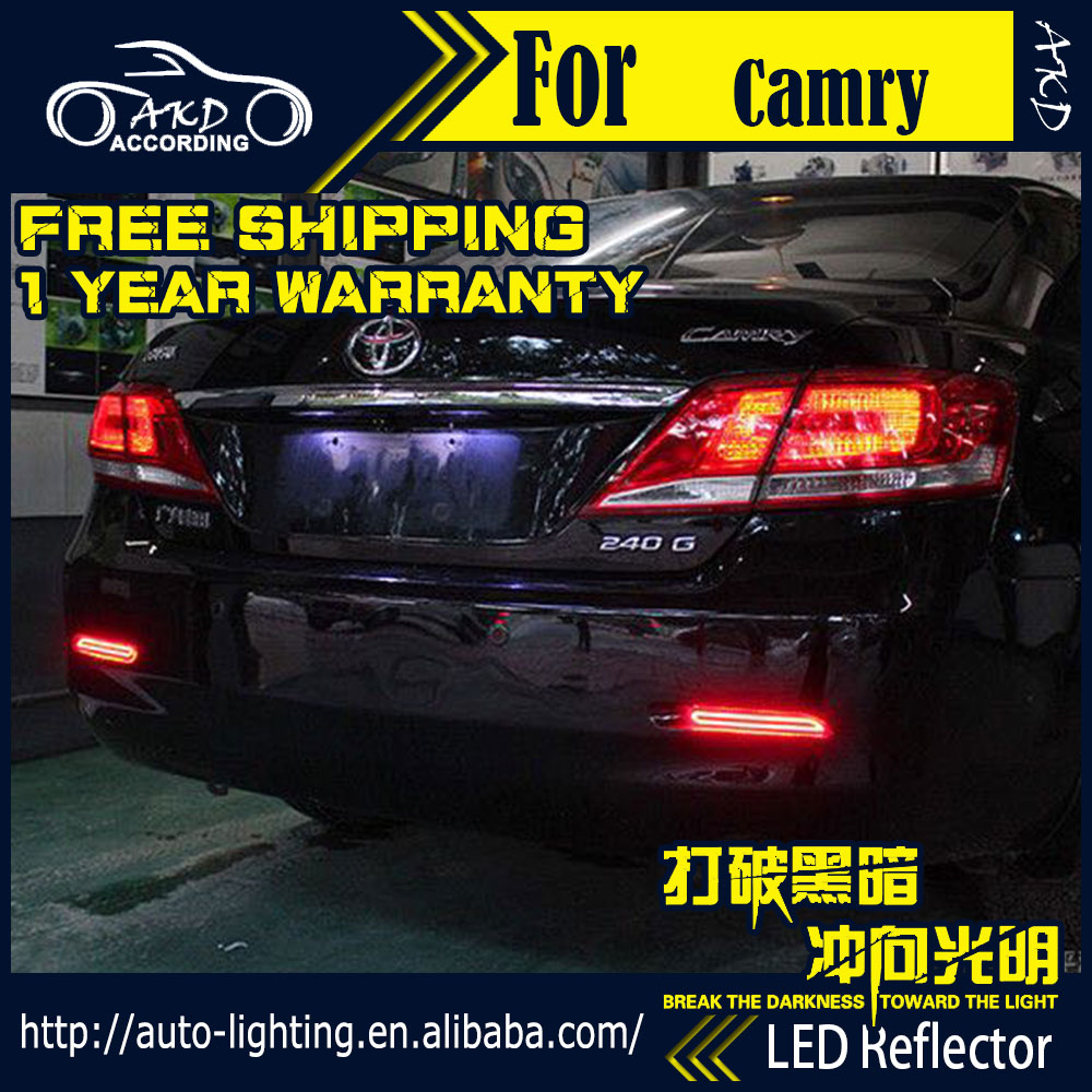 Akd car styling led reflector lamp for toyota camry rear bumper light 2006 2014 rear
