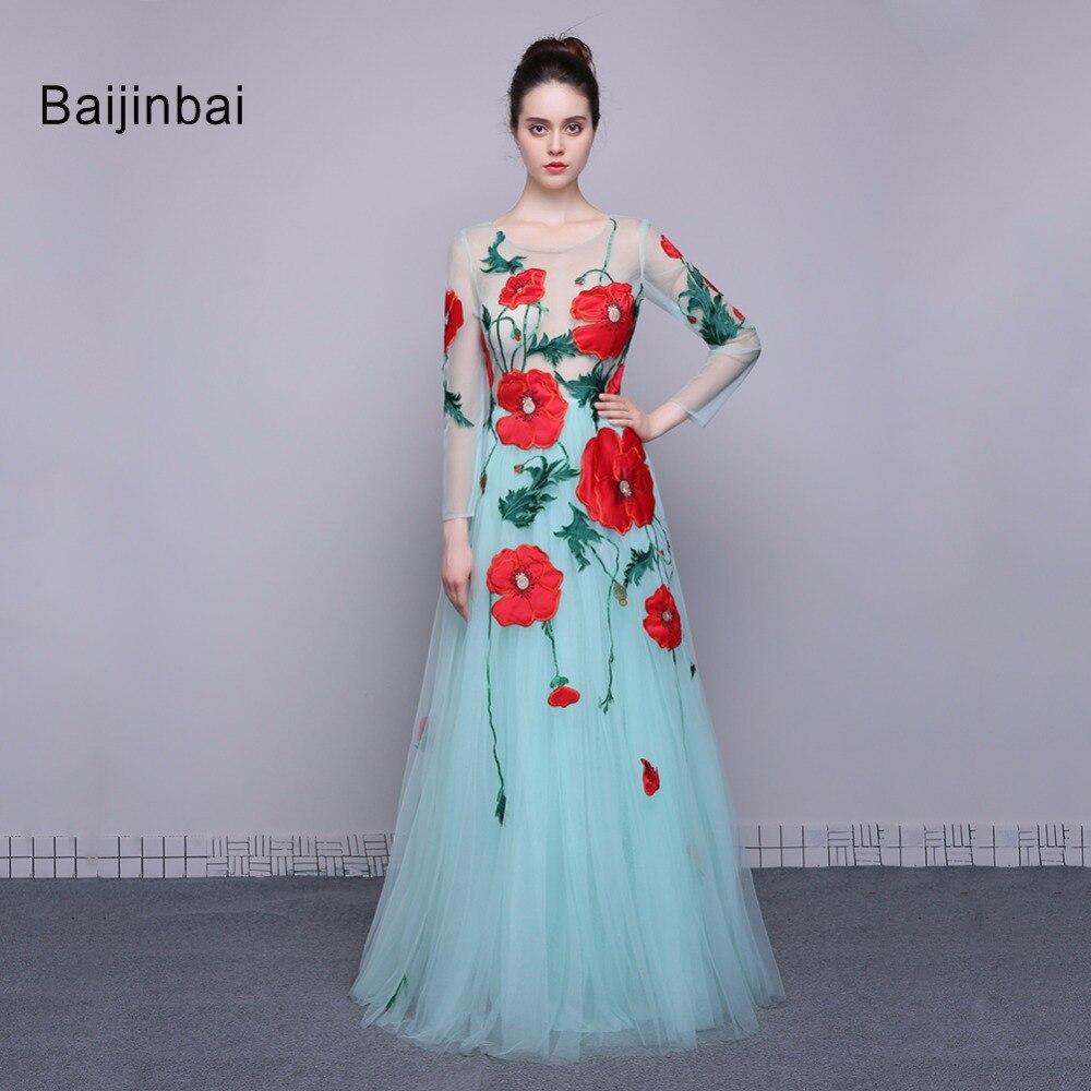 Online Get Cheap Flower Long Sleeve Prom Dress Beautiful -Aliexpress ...