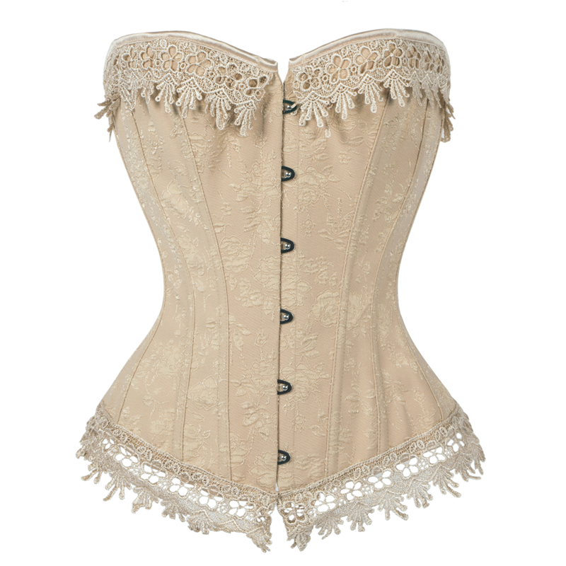 Steampunk Corset Women <font><b>Sexy</b></font> Corset Top Bustier Overbust Lace Up Back <font><b>Lingerie</b></font> Shapewear Waist Cincher Corsets <font><b>6XL</b></font> Panty Dress image