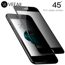 VEEAII 9H Privacy Protector Anti Peeping Tempered Film Glass for iPhone X XS Max XR 6 6S 7 8 Plus Glare Screen Protection