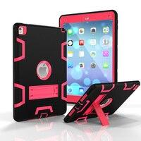 מכונאי Case עבור אפל iPad אוויר 2 כיסוי השפעה גבוהה שלוש שכבה Heavy Duty שריון Defender היברידי עמיד גוף מלא מגן