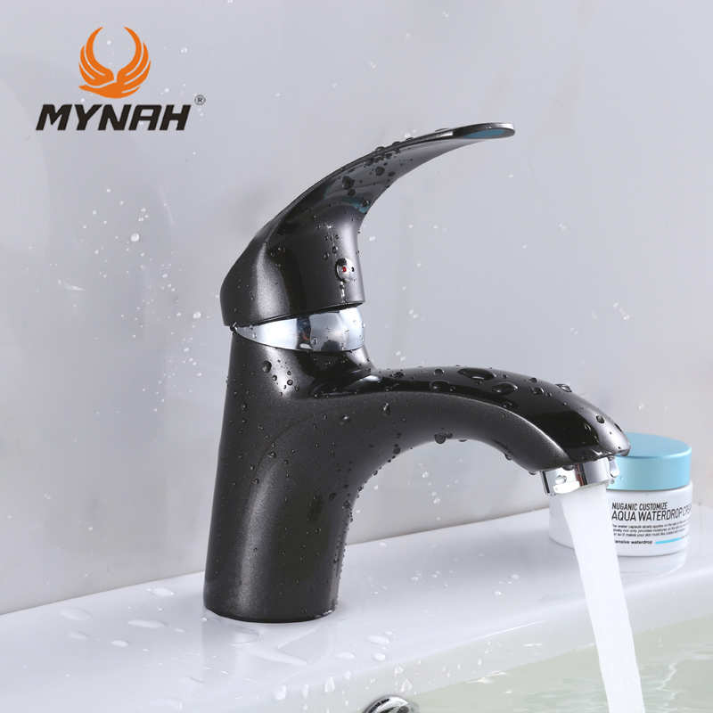 MYNAH Russia Free Shipping New Arrival High Quality Black Kitchen Faucet Classic Style Basin Faucet M1003I