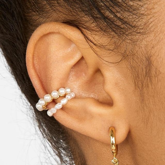Bohemian Pearls Ear Cuff 3