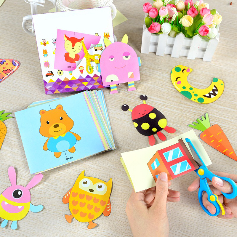 Creative Diy Handmade Paper Carving Book Art Knife Paper-cut Toys Cartoon Origami Children Educational Tools Office & School Supplies