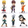 6pcs/set 8-13cm Cute version Japanese Anime 20Genereations 21generations Naruto kakashi Sasuke Figures Model#EB