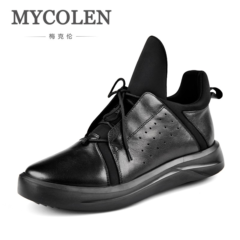MYCOLEN New Arrivals High Quality Casual Shoes Men Black Street Style Shoes Men's Sneakers Zapatillas Hombre Deportivas Casual 2017brand sport mesh men running shoes athletic sneakers air breath increased within zapatillas deportivas trainers couple shoes