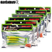 bassland soft fishing lure 6 bags/set 85mm 5.5g and 100mm 9g best price from the hunt house store