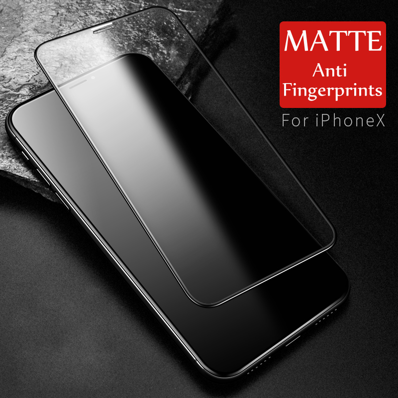 9H 2.5D matowy matowy pełna pokrywa szkło hartowane Screen Protector dla iPhone X XS MAX XR 10 8 7 6s 6 Plus 7Plus anty odciski palców 33