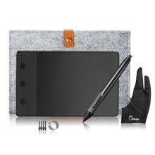 Графический планшет Huion H420+ 10 дюймовая шерстяная подкладка+ противообрастающая перчатка с двумя пальцами в подарок