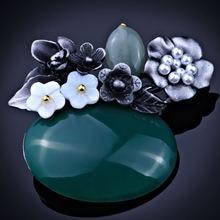 Farlena ювелирные изделия ручной работы натуральный камень брошь