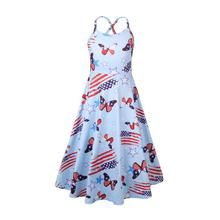 Dress girl Summer Cute baby girl clothes sleeveless princess dress baby butterfly clothes for girls vestidos 51235