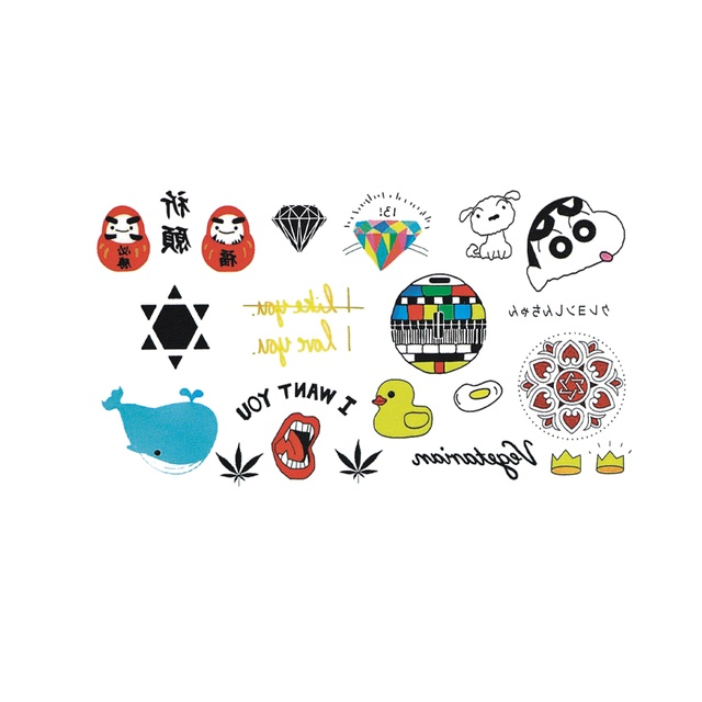 Wyuen hot waterproof temporary tattoo stickers for adults kids body art funny items collection mx