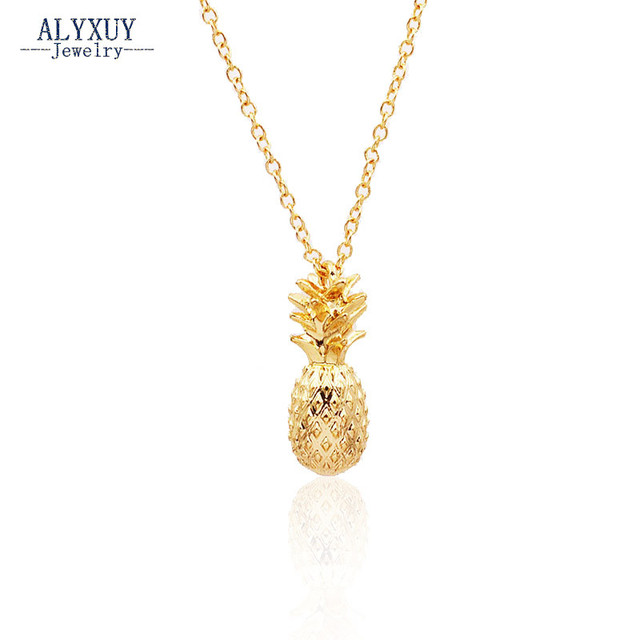 New fashion jewelry chain link pineapple pendant necklace for women girl nice gift N1724