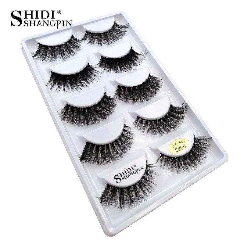 48249a8d84b Mix 5 Pairs 3d mink lashes natural false eyelashes thick long black mink  eyelashes soft makeup eyelash extension faux lashes 807