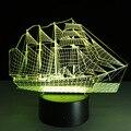 O novo Mobiliário Doméstico inteligente 3D colorido Noturna vela moda simples atmosfera de Festa de aniversário da lâmpada de controle remoto