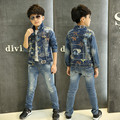 Kids Clothing Children's Clothes Denim Jeans Coat Boy Jeans Jacket Boys spring&autumn Fashion New Navy Blue Tops Outwear