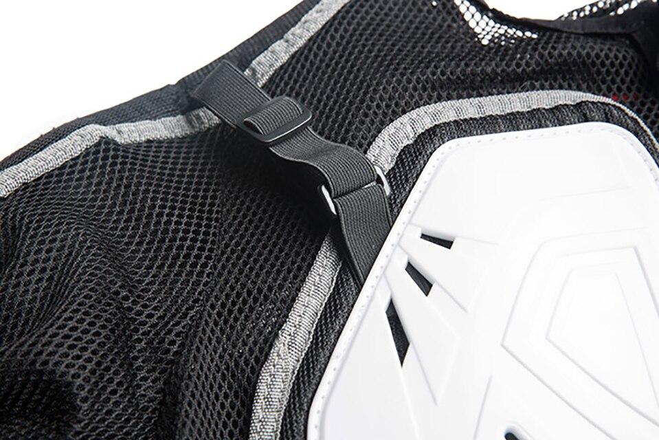 Veste de moto Protection armure vestes Protection Motocross vêtements protecteur protecteur arrière course veste complète du corps - 4