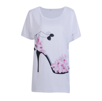 2017 New Fashion Summer Autumn T Shirt Women Tops Tees Floral Print Tshirt Harajuku Women T -shirts