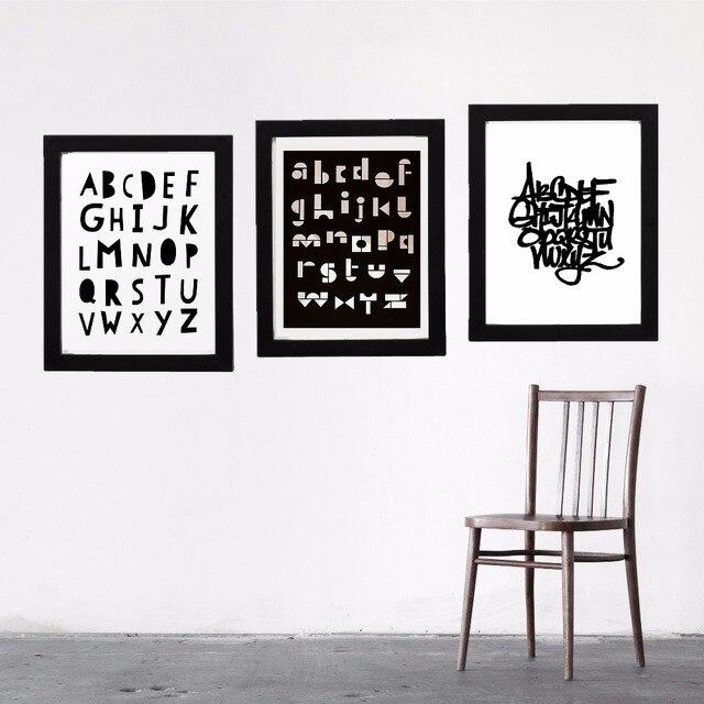 aliexpress: acheter noir et blanc nordique alphabet toile art